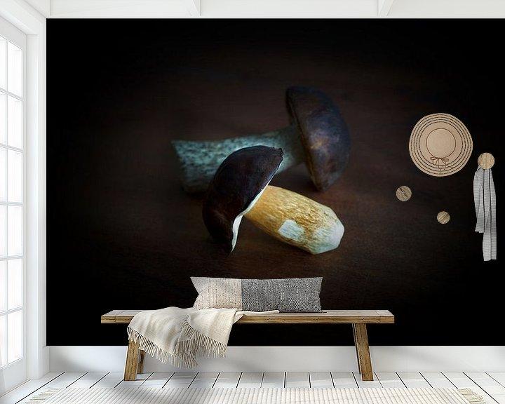 Beispiel fototapete: Maronenröhrling und Birkenpilz von Heiko Kueverling