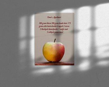 appel met recept voor oma's appeltaart van Klaartje Majoor