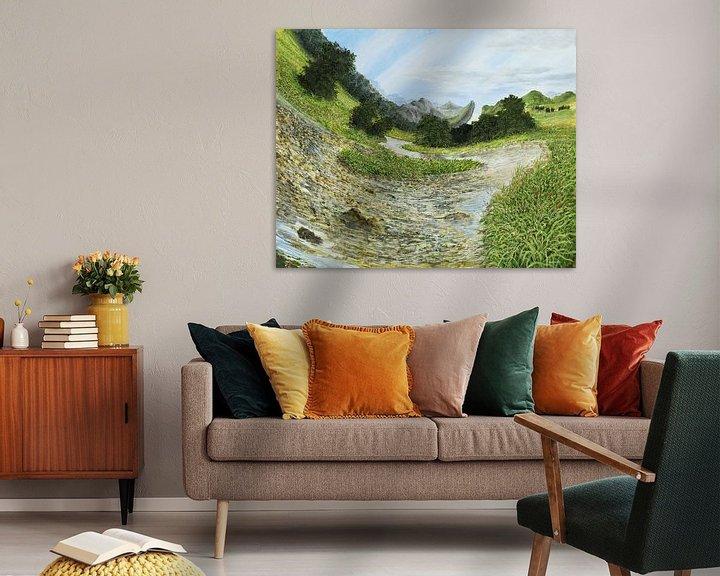 Impression: Ruisseau de montagne sur Art Demo