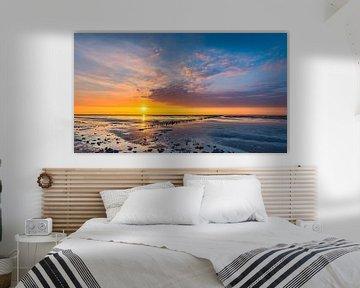 Zonsondergang aan de Noordkaap, Groningen