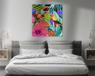 Tropical Art Parrots van Rudy en Gisela Schlechter