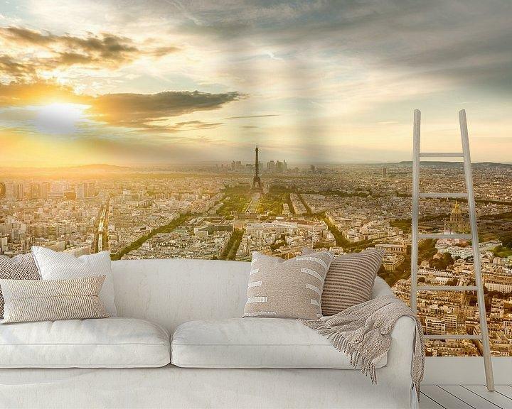 Sfeerimpressie behang: Paris Golden Hour van Etienne Hessels