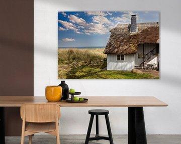 Reed huis op het strand van Tilo Grellmann | Photography
