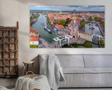 Le Zierikzee vu d'en haut sur Fotografie in Zeeland