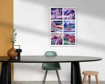 De ontdekkingsreizigers - collage van Galerie Ringoot