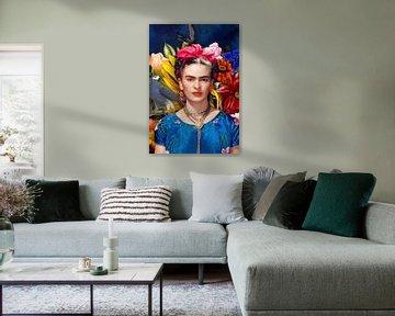 Frida mit Papagei von Rudy & Gisela Schlechter