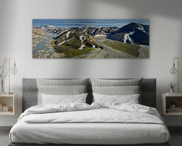 Landmannalaugar vanuit de lucht van Keith Wilson Photography