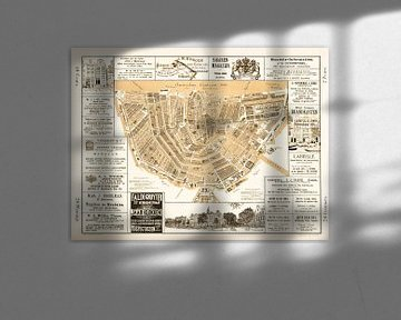 Kaarten van Amsterdam 1883 Sepia van Hendrik-Jan Kornelis