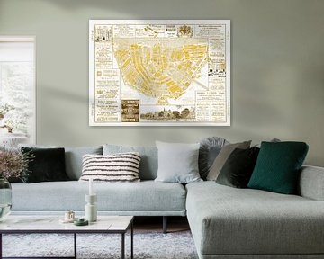 Kaarten van Amsterdam 1883 Goud van Hendrik-Jan Kornelis