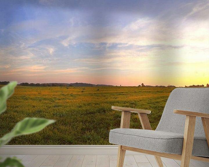 Sfeerimpressie behang: Panorama van een zonsondergang in een prachtig landschap van MPfoto71