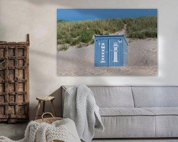 Blaue Strandhütte von Mark Bolijn