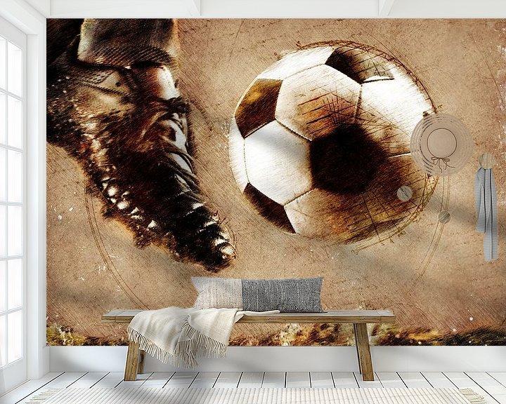Beispiel fototapete: Fußballspieler Sport Kunst #Fußball #Fußball von JBJart Justyna Jaszke