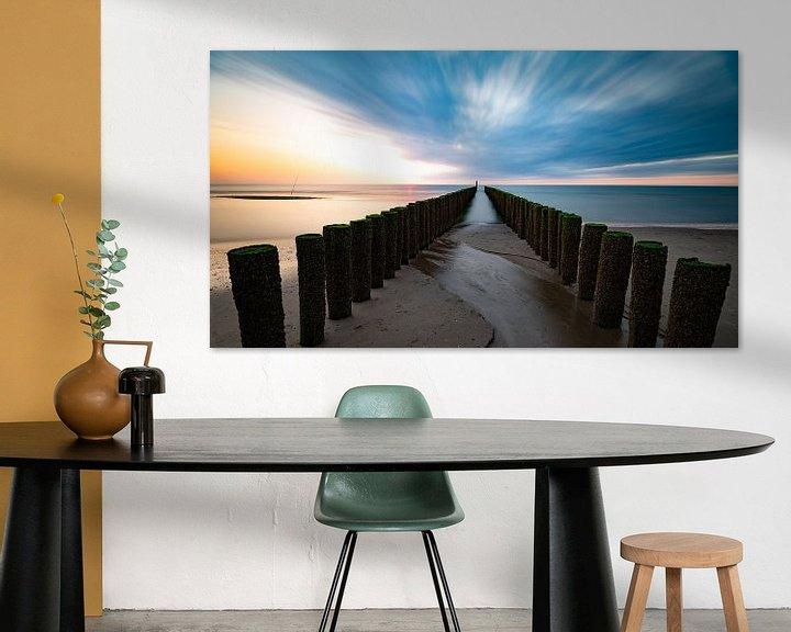 Impression: Coucher de soleil Zeeland sur Mark Bolijn