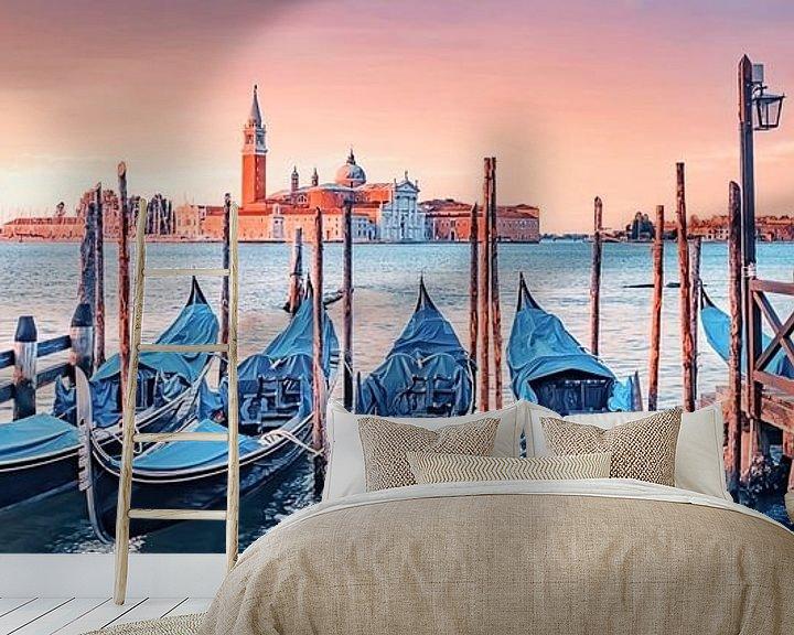 Sfeerimpressie behang: Zonsopgang in Venetië van Manjik Pictures