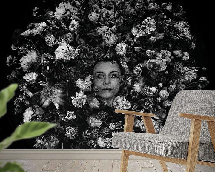 Sfeerimpressie behang: Donna Fiorata van Martijn Versteeg