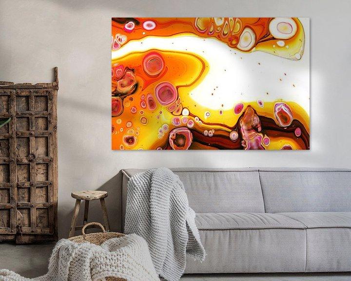 Beispiel: Abstrakt orange/Orange abstrakt/Abstrakte orange/Orange abstraite von Joke Gorter