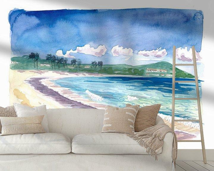 Beispiel fototapete: Strandspaziergang am Amazing Sapphire Beach, St. Thomas USVI von Markus Bleichner