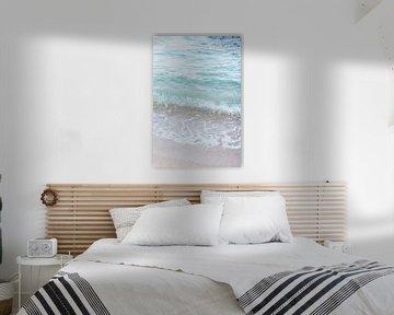 Heldere blauwe zee - Spanje - middellandse zee van Robin Polderman