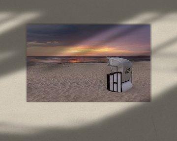 Strandkorb an der norddeutschen Küste von Adelheid Smitt