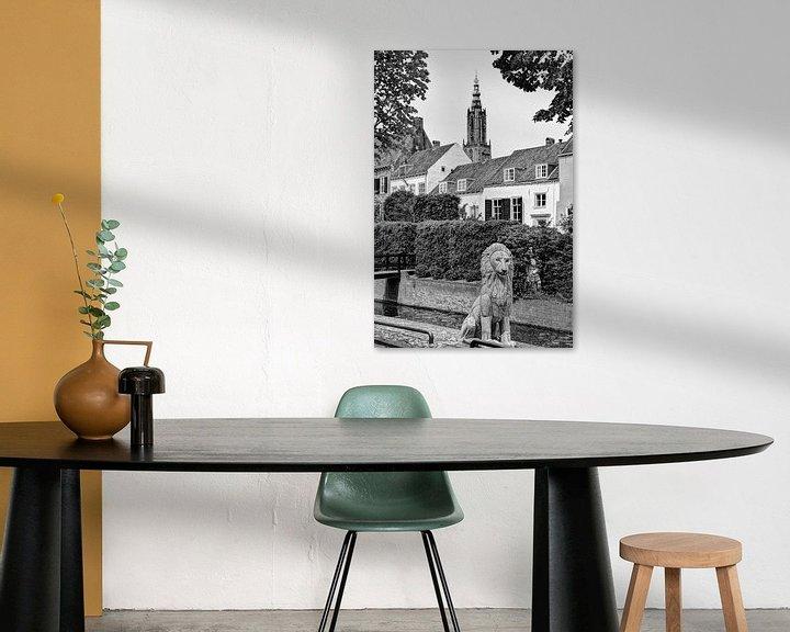 Sfeerimpressie: Amersfoort Utrecht Nederland Zwart-Wit van Hendrik-Jan Kornelis
