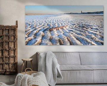 Bevroren strand von Arjan van Duijvenboden