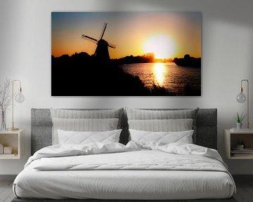 Zonsondergang boven de Beemster van Jan van der Knaap