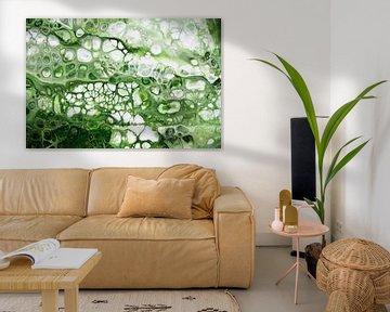 Abstrakt grün/ Green abstract/ Abstrakt grün /Vert abstrait von Joke Gorter