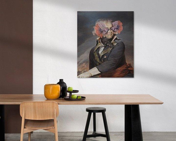 Impression: Portrait d'un homme - qui cache ses yeux de poisson sur Rudy & Gisela Schlechter
