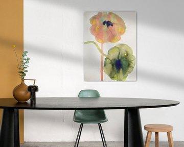 Pastell Windmühlen von Helia Tayebi Art