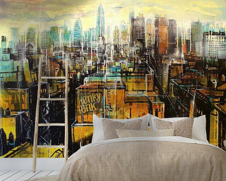 Sfeerimpressie behang: New York, East Village van Johann Pickl
