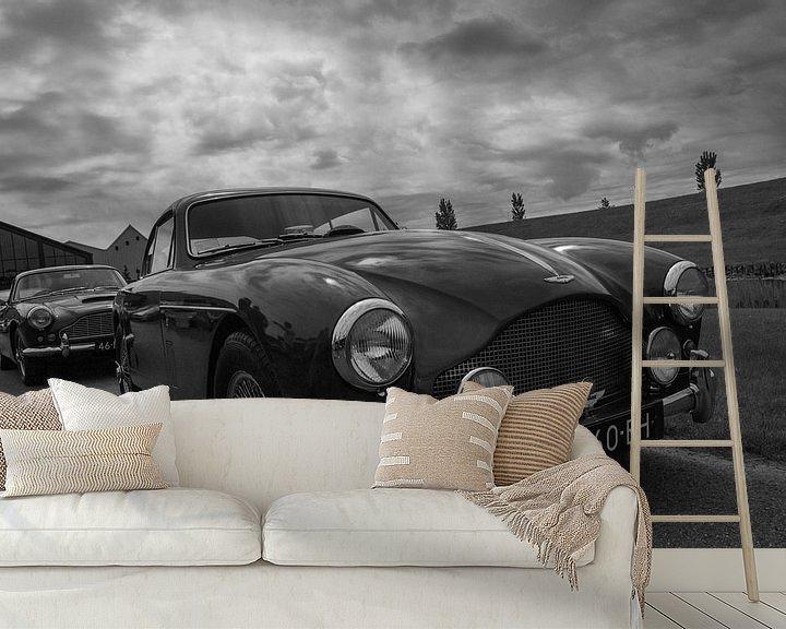Sfeerimpressie behang: Aston Martin  DB 2-4 van Ton Tolboom