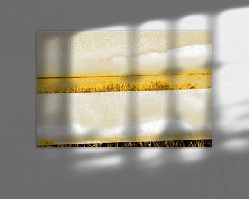 Minimalisme Kunst Fotografie Vangrail Goud van Hendrik-Jan Kornelis