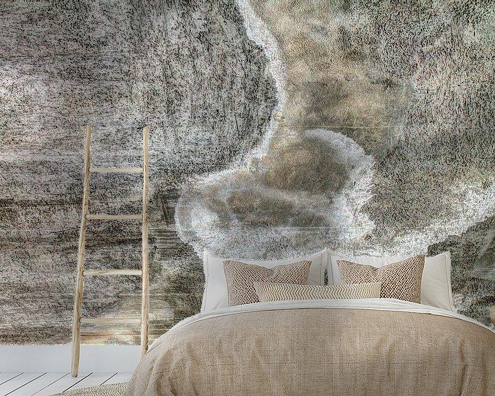 Sfeerimpressie behang: Minimalisme Kunst Fotografie Betonnen Muur van Hendrik-Jan Kornelis