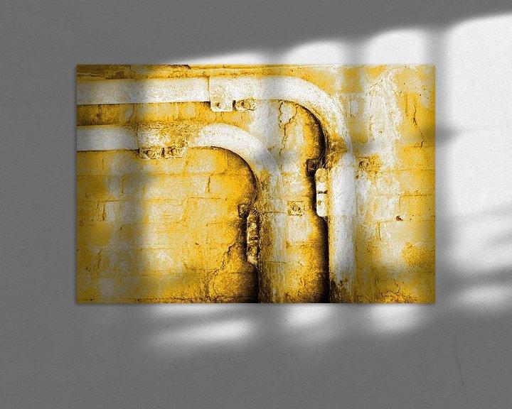 Sfeerimpressie: Minimalisme Kunst Fotografie Roestige Buis Goud van Hendrik-Jan Kornelis