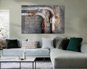Minimalismus Kunst Fotografie Rusty Tube von Hendrik-Jan Kornelis