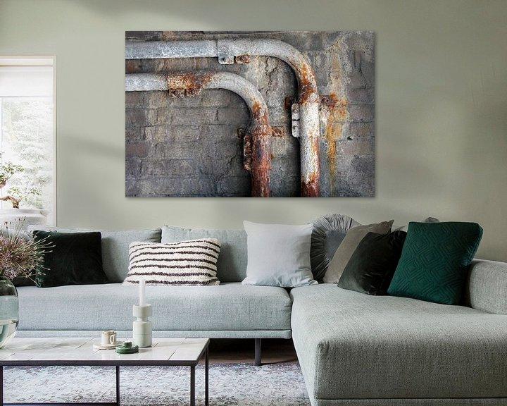 Impression: Minimalisme Art Photographie Tube rouillé sur Hendrik-Jan Kornelis