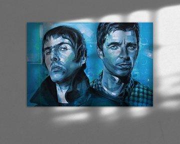 Oasis schilderij van Jos Hoppenbrouwers