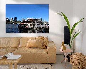 Schaufelraddampfer in Brisbane, Australien von Ines Porada