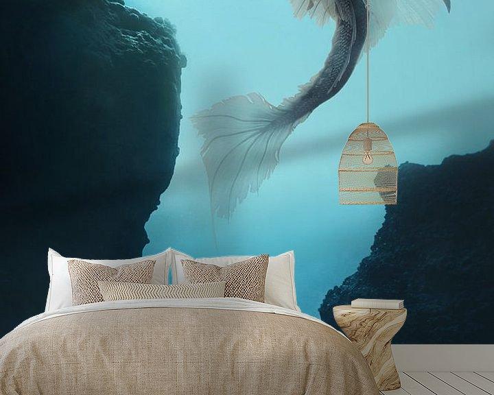 Sfeerimpressie behang: Mermaid in black van Elianne van Turennout