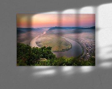 Sonnenaufgang Moselschleife von Bjorn Renskers