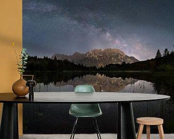 Melkweg boven de Karwendel van Denis Feiner