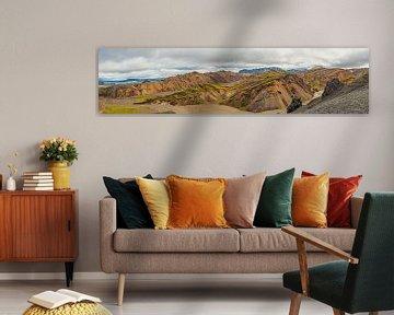Landmannalaugar uitzicht in IJsland tijdens de zomer van Sjoerd van der Wal