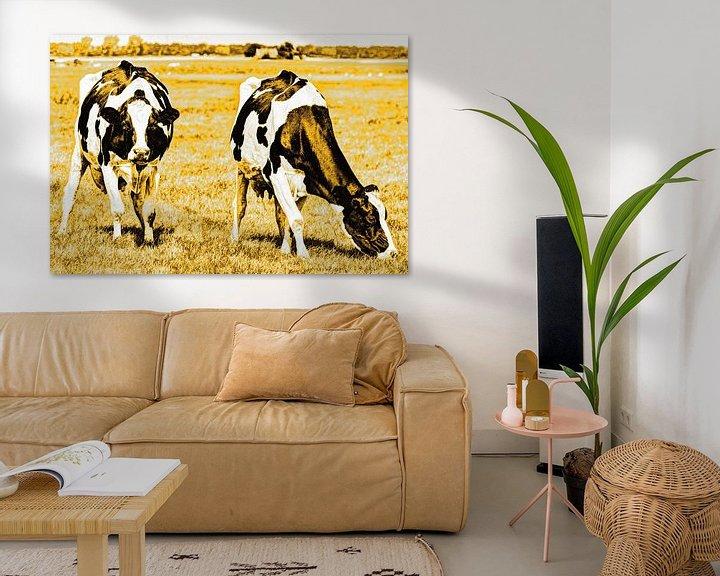 Sfeerimpressie: Zwartbont Koeien in de Weiland Goud van Hendrik-Jan Kornelis
