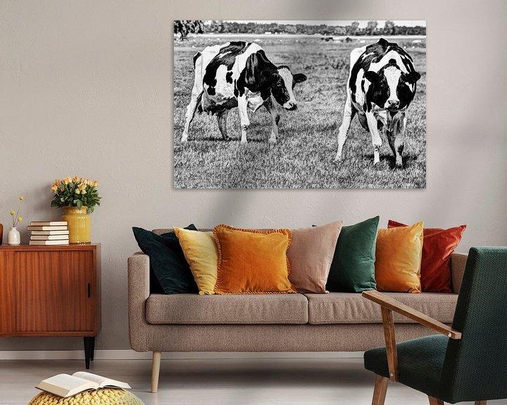 Sfeerimpressie: Zwartbont Koeien in de Weiland Zwart-Wit van Hendrik-Jan Kornelis