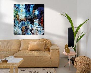 abstrakte Malerei Blue  limitierte Auflage 1-100