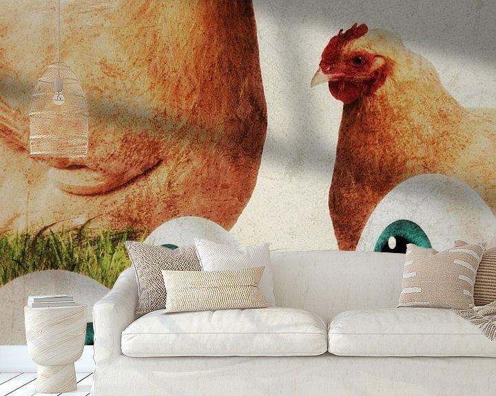 Beispiel fototapete: Hühner - Augen von Dagmar Marina