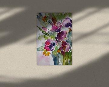 Blumen in Lila und Grün von ArtBoxi