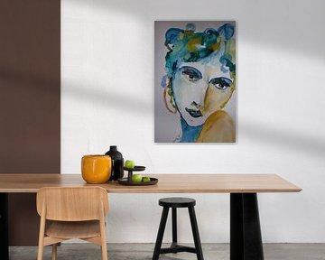Portret of a woman 1 van ArtBoxi