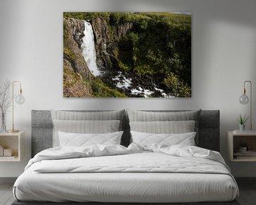 Waterval in Skaftafell von Louise Poortvliet