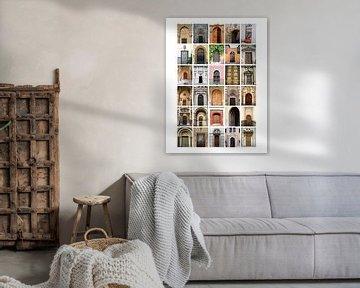 Collage aus Türen von Nicolette Vermeulen